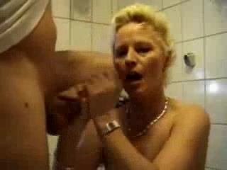 German mature hardcore anal milf bathroom