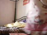 Grosse Titten Frau im selbst Ana Dildo spielen zu Hause