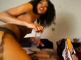 Black English Girl is Anal Freak as She Penetrates Her Asshole