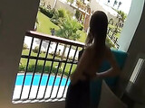 Amateur Anal Sex on the Balcony German Girlfriend Fucked in Ass