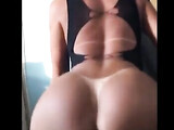 Hot Brazilian girl with big ass riding cock during anal sex